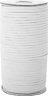 CNXUS Elastisk sladd, gummisladd, vitt elastiskt band, platt elastiskt band sträng töjbar rem sladd midjeband för hantver...