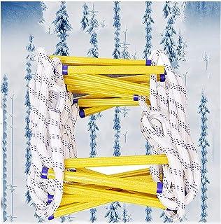 iksvmsis Échelle de Corde D'évacuation,Ignifuge Échelle enCorde Souple Charge 200 Kg avec 2 Crochets,Souple Échelles D'In...