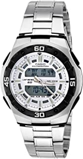 Casio Men's White Dial Stainless Steel Band Watch