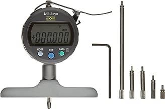 Mitutoyo 547-252 ABSOLUTE Digimatic LCD Depth Gauge, Indicator Type, 0-200mm Range, 0.001mm Graduation, +/-0.005mm Accuracy, 101.5mm x 16mm Base