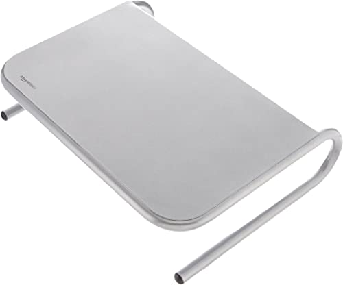 AmazonBasics Monitor Stand (Silver)