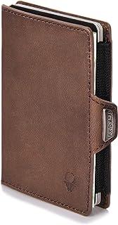 DONBOLSO® Wallety Piko I Mini Slim Wallet aus Echt-Leder I Geldbeutel mit RFID Schutz I bis 6 Karten I kleine Portemonnaie...
