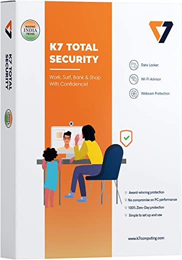 K7 Total Security - 1 PC, 1 Year (CD or Voucher) 1