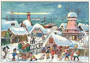 Richard Sellmer Verlag Company Village in Dutch Port Advent Calendar Approx 8.25-inch x 11.75-inch (47)