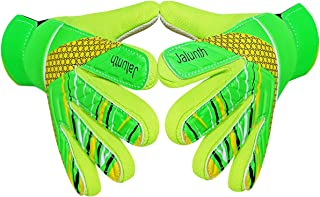 Jalunth Goalkeeper Goalie Soccer Gloves - Kids & Youth Football Goal Keeper Gloves with Embossed Anti-Slip Latex Palm and Soft PU Hand Back