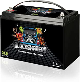 Black 12V 110AH 2000 Watts M8/T8 High Current Battery replaces Kinetik HC2400
