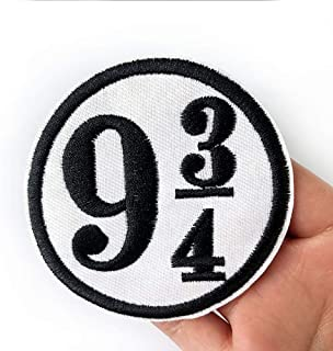 2 Pcs Platform Nine and Three-Quarters Delicate Embroidered Patches, Cute Embroidery Patches, Iron On Patches, Sew On Applique Patch,Cool Patches for Men, Women, Kids