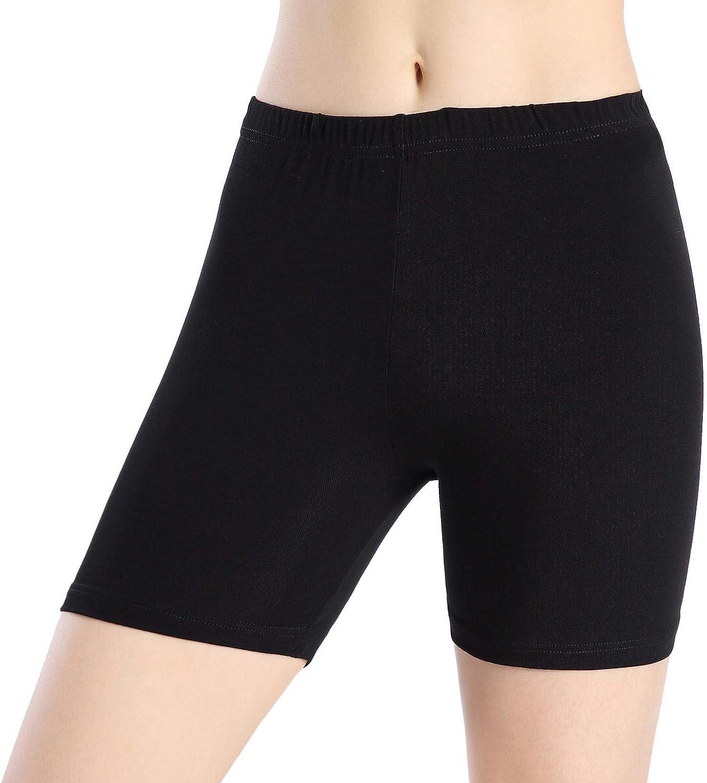 Women Under Dress Tight Shorts Stretch Short Pants Thin Yoga Leggings Fitness