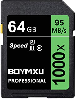 64GB Memory Card, BOYMXU Professional 1000 x Class 10 SDHC UHS-I U3 Memory Card Compatible Computer Cameras and Camcorder...