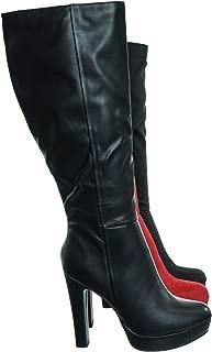 Aquapillar Knee High Dress Boots - Women Thick High Over Knee Heel Platform