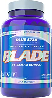 Blue Star BLADE Fat Burner for Men: Strongest Metabolism Booster Weight Loss Supplement and Energy Pills to Support Fast W...