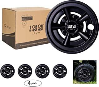 10L0L Golf Cart Wheel Covers Hub Caps (Set of 4), Compatible with EZGO Club Car Yamaha Carts 8