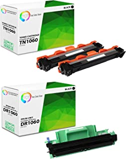 TCT Premium Compatible Toner Cartridge and Drum Unit Replacement for Brother TN1060 DR1060 Works with Brother HL-1110 1212W, MFC-1810 1910W, DCP-1510R 1612W Printers (2 TN-1060, 1 DR-1060) - 3 Pack