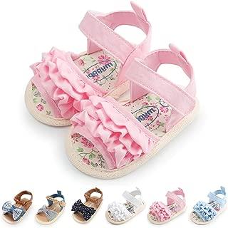 Premium Infant Baby Girl Sandals Soft Sole Summer Princess First Walker Crib Shoes for Newborn、Prewalker