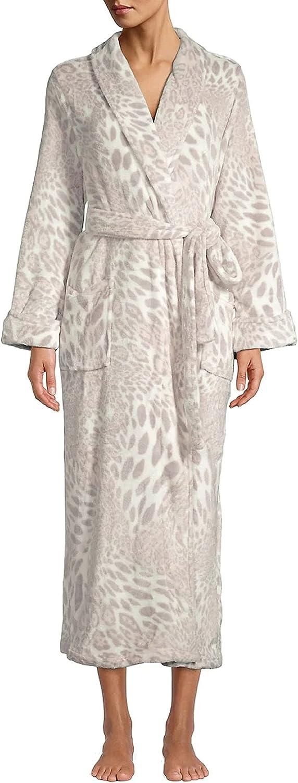 Natori Chestnut Denver Mall Leopard Print Max 84% OFF XS Plush Robe