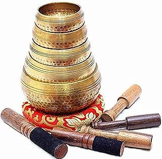 کاسه آواز خوانی تبت با ضرب و شتم از 5 دست چکش دست - کاسه های مراقبه بودایی از نپال