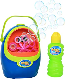Click N' Play Automatic Bubble Blowing Machine Including A Bottle of Non-Toxic Bubble Solution For Kids, Summer Outdoor Fun