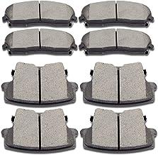 SCITOO Ceramic Discs Brake Pads Kits, 8pcs Disc Brakes Pads Set fit for 2005-2017 Chrysler 300,2009-2017 Dodge Challenger,2006-2017 Dodge Charger,2005-2008 Dodge Magnum