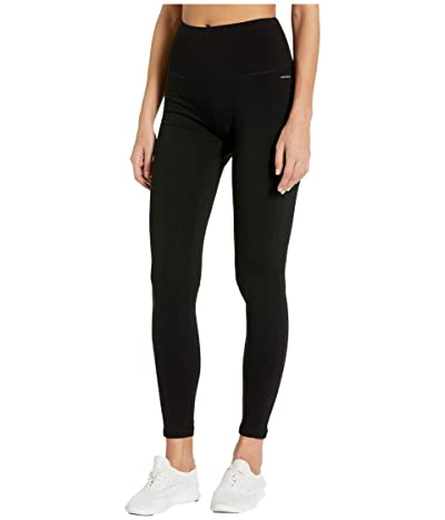Jockey Active Cotton/Spandex Basics Full Length Leggings (Deep Black) Women