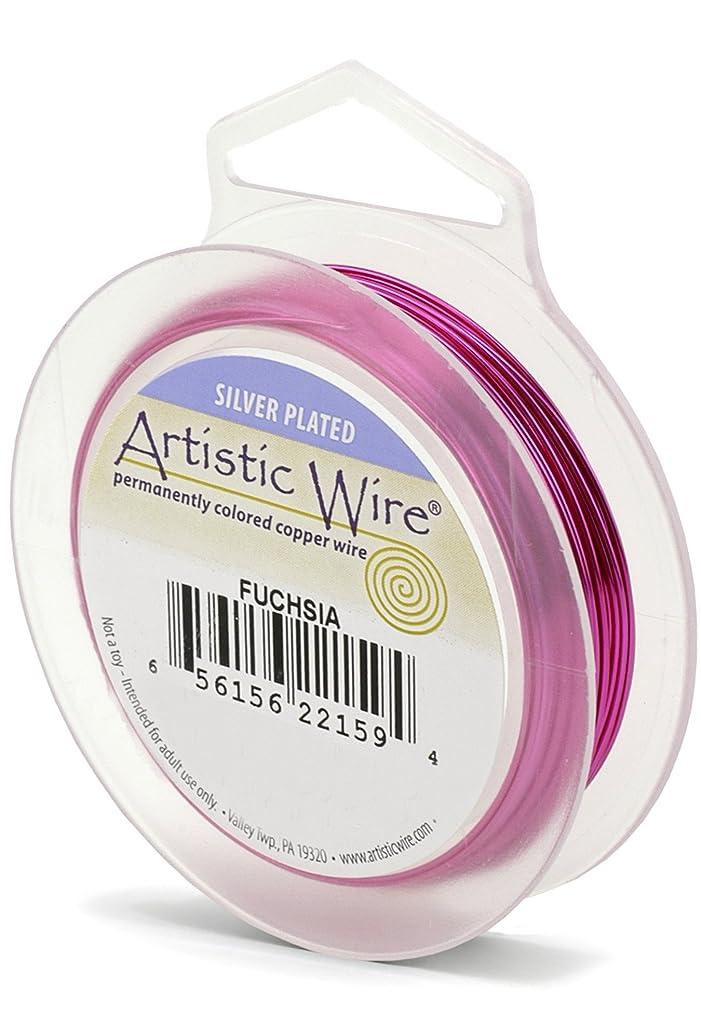 Artistic Wire 26S Gauge Wire, Fuchsia, 30-Yard