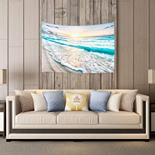 PROCIDA Home Tapestry Wall Hanging Nature Art Polyester Fabric Sea Beach Theme, Wall Decor for Dorm Room, Bedroom, Living Room, Nail Included - 60