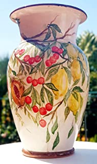 Portaombrelli Frutti misti Ceramica Realizzato e Dipinto a mano Pezzo Unico Oggetto d'arte Le Ceramiche del Castello Made ...
