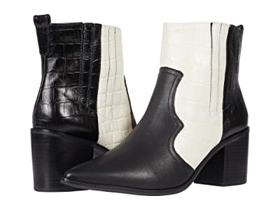 KAANAS Sicily Color-Block Texan Bootie (Off-White) Women