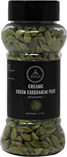 Naturevibe Botanicals Organic Green Cardamom Pods Whole, 3.17 ounces | Non-GMO and Gluten Free | Indian Spice | Adds aroma...