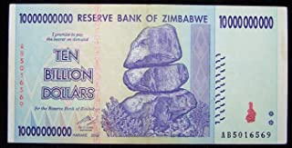 Nice1159 1 x Zimbabwe 10 Billion Dollar banknote -Paper Money Currency - Rare for Collectors (Only 5 pcs Left)