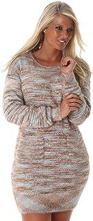 f48c21c6f10 Voyelles - Robe en tricot avec poches - Femme - Taille unique (38-42