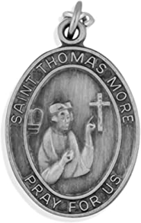 Oval Pewter Saint Medal with Holy Card