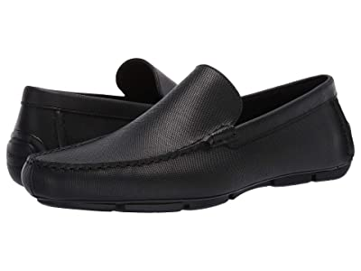 Calvin Klein Kaleb (Black Hatched Embossed Leather) Men