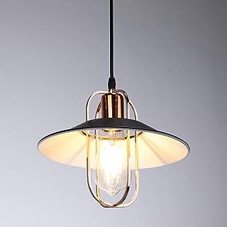 Asvert Lampara Techo Vintage Φ24cm Lámpara Colgante Vintage Luz Pendiente Metáli Lámpara de Comedor Retro el cable de 1.5m Ajustable (Modelo 3)
