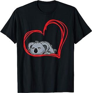 Lazy Sleepy Koala Girls Women Animal Gifts I Love Koala Fun T-Shirt