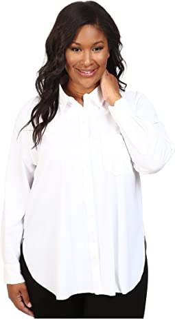 Plus Size Schiffer Stretch Button Down