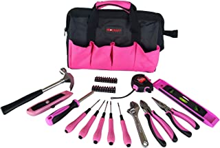 Household Tool Kit for Ladies (34 Pieces) – Home Repairing Tool Set with Storage Bag – Includes Wrench, Pliers, Claw Hammer, Screwdriver, Blade, Tape Measure - For All Your DIY Projects by Neocraft