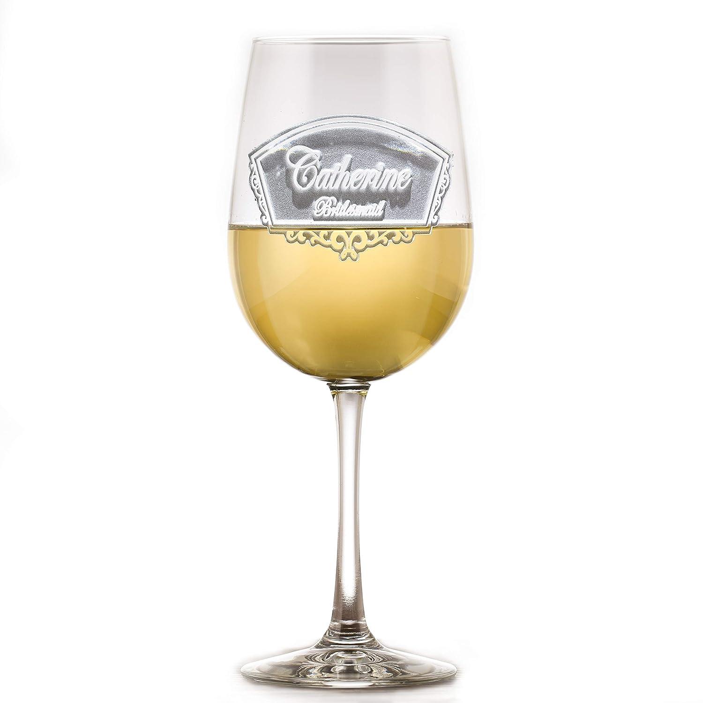 Max 64% OFF Engraved Bridesmaid Bridal Party Wine Glass Of Elegant 5 Set