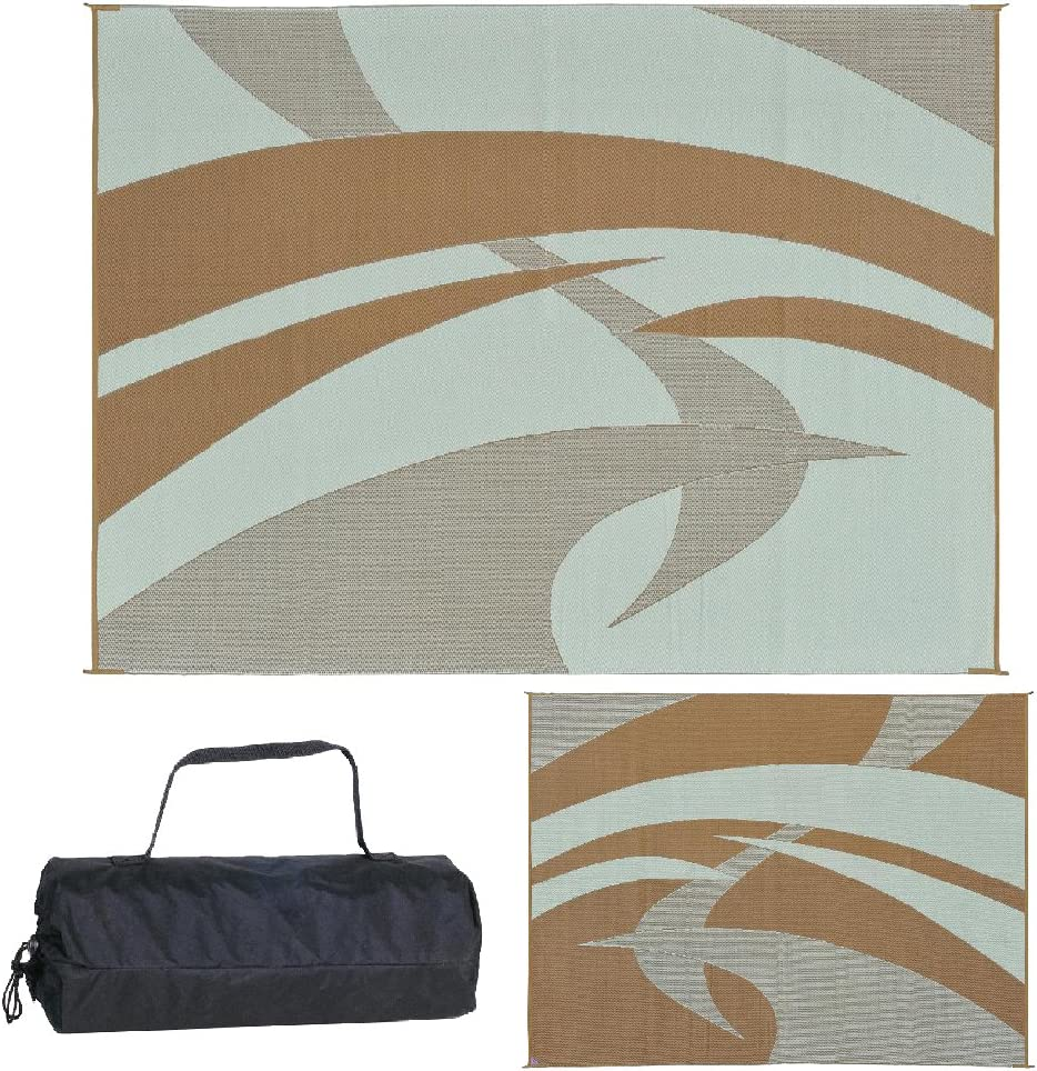 Reversible Mats Ranking TOP3 159127 Outdoor Patio RV Swirl Challenge the lowest price of Japan Mat - Camping B