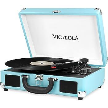 Victrola Suitcase Tocadiscos en maleta Vintage Bluetooth ...