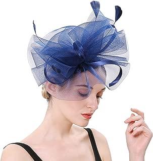 Fascinators Hats Tea Party Headwear Kentucky Derby Hats Wedding Cocktail Mesh Flower Hair Clip for Women