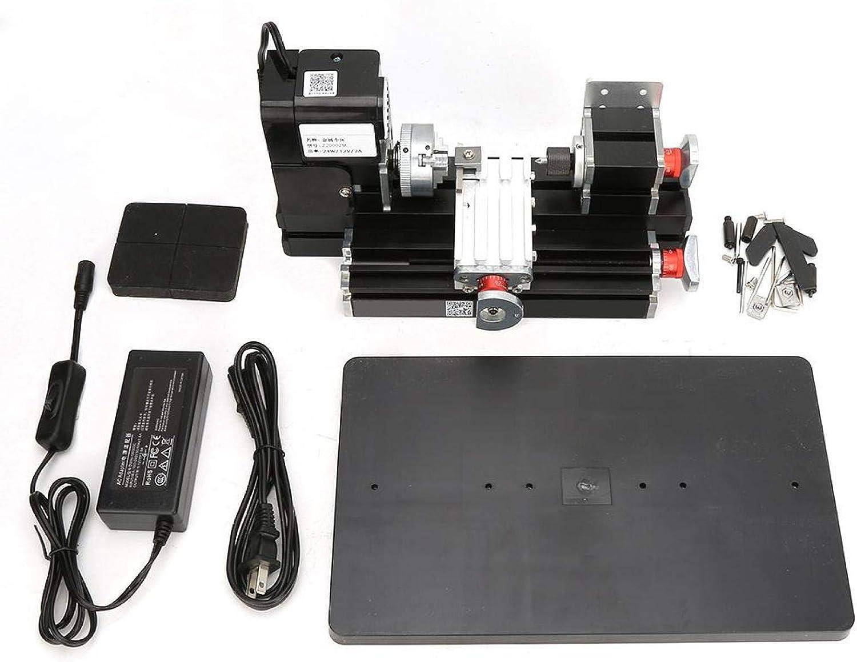 Mini Metal Lathe Machine 24W US Finally popular brand f for Plug online shopping Acrylic Plastic