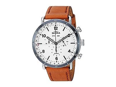 Shinola Detroit Canfield Sport 20141501 (White Matte Velvet Dial) Watches
