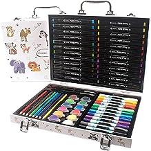 ALANEK marqueur créatif surligneur stylos Fournitures d'art pour Enfants Couleurs marqueur Double Face avec boîte d'art Po...