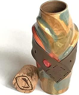 Vesu Mug - Harvest Moon - Unique handmade pottery travel mug - Stoneware 16 oz, ceramic mug travel