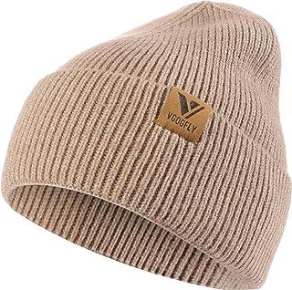 Vgogfly بيني للرجال مترهل متماسكة الجمجمة كاب دافئ الجوارب القبعات الرجال النساء مخطط الشتاء قبعة كاب كاب كاب سادة