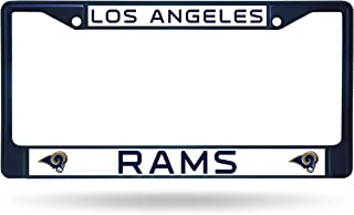 Rico Industries NFL Los Angeles Rams Colored Chrome Plate Frame, Navy