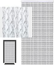 Flauschvorhang Braun//Beige 100x200cm Türvorhang Fliegenschutz 100/% Made in Italy