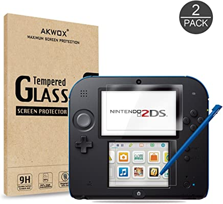 (4pcs) Tempered Glass Top LCD Screen Protector + HD Clear Crystal Buttom LCD Screen Protective Filter for Nintendo 2DS
