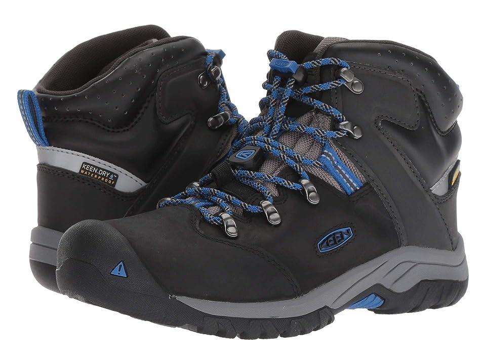 Keen Kids Torino II Mid WP (Little Kid/Big Kid) (Black/Baleine Blue) Boys Shoes