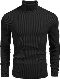 BIG/&TALL MAN/'S CARDIGAN ZIP HIGH NECK SOLID SWEATER BLACK COTTON BLEND